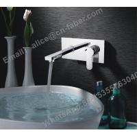 Quality hot selling chrome brass single lever concealed basin faucet,wall mounted for sale