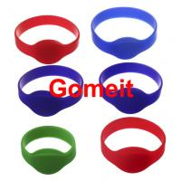 13.56 Mhz Rfid Silicone Wristband Waterproof , Programmable Smart Access Control Wristbands Manufactures