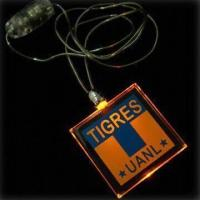 Square Plastic Flashing Necklaces, Measures 39 x 39 x 4mm, with Yellow LED Manufactures