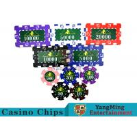 Translucent Marco Style Casino Poker Chip Set With Crystal Clear Texture Manufactures