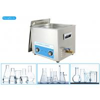 Stainless Steel Tank Ultrasonic Bath Laboratory With Mechanical Heater 500W 30L Manufactures