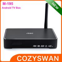 China USB 3.0 Android Smart TV Box media player metal shell real 4K miracast sink on sale