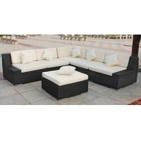 Outdoor Rattan Furniture , Garden Sectional Sofa Set With Ottoman Manufactures