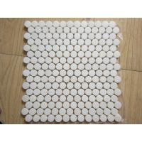 White Black Penny Grey Mosaic Floor Tiles , Various Patterns Stone Brick Mosaic Tiles Manufactures