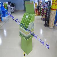 Unique Design POP Cardboard Floor Display Stand For Bamboo Sticks , Easily carried Paper Display Manufactures