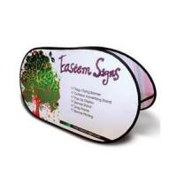 Customized dye sublimation spring mental steel Horizontal Tradeshow Advertising Pop Up Display Banners Manufactures