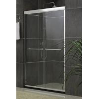 Inline Sliding Double Bath Shower Screen Aluminum Alloy Frameless Nano Tempered Glass Manufactures