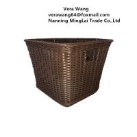 China Wholesale Hand weaving Rattan eco-friendly dirty clothes basket/storage basket/ supermarket fruit basket on sale