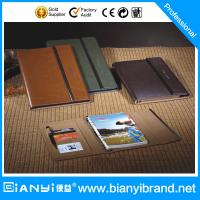 Custom leather with embossing logo loose leaf notebook Manufactures
