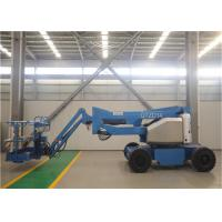 Electric Articulating Boom Lift , Trailer Mounted Boom Lift 12-30m 230kg Load Manufactures