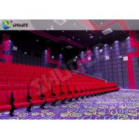 Vibration Effect Movie Theater Seats SV Cinema Red 120 People Movie Theatre Seats Manufactures