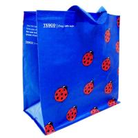 Woven Polypropylene Tote Bags for Supermarket , Blue Custom Printed Totes Manufactures