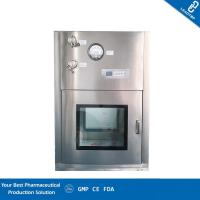 Time Adjustable Clean Room Equipment Pass Box With Double Armoured Glass Door Manufactures