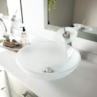 China glass round vanity top bathroom sink TY-101 420*420*150*19MM on sale