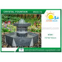 Customized Crystal Ball Fountain , Feng Shui Ball Fountain Black Base Pedestal Manufactures