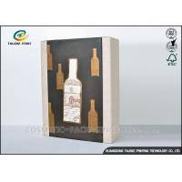 High End Paper Wine Box Gold Hot Stamping Finishing Hardcover Hand Box Manufactures
