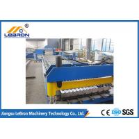 China Blue Color Corrugated Sheet Roll Forming Machine / Corrugated Roof Roll Forming Machine on sale