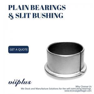 Weave Fiber Reinforced PTFE Bronze Steel Bushing Size Custom Assembly Manufactures