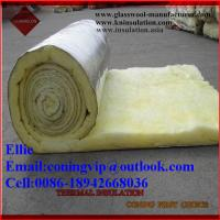 Quality Glass wool/fibre glass wool for warehouse roof thermal insulation for sale