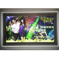 Hotel Decorative Crystal LED Light Box Customized Color With Silver Board Frameless Manufactures