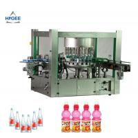 China Rotary Three Phase Hot Melt Glue Labeling Machine For PET Oval Round Bottles on sale