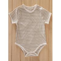China organic baby bodysuit 100% cotton, high quality, for 0-24m baby on sale