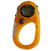 LCD Digit Sport Watch With Alarm , Unisex Compass Carabiner Watch Manufactures
