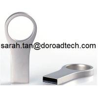 China High Quality Real Waterproof Metal Silver USB Flash Drive Pen Drive with Key Ring on sale