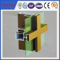 aluminum profile for buildings materials, aluminum extrusion for curtain wall decoration Manufactures