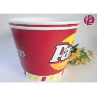 120oz Paper Popcorn Buckets Logo Printed , Disposable Popcorn Containers Manufactures