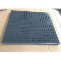 Grey Color Clip Perforated Metal Ceiling , Perforated Acoustic Panels Dia 3.0mm Manufactures