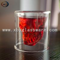 Glass skull double wall wine cups Manufactures