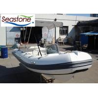2 Rows Seat Box Semi Rigid Boat PVC Inflatable Tubes , Foldable Canopy Installed Manufactures