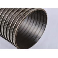 China SS Wedge Johnson Wire Screen , Stainless Steel Wedge Mesh Cylinder Filter on sale