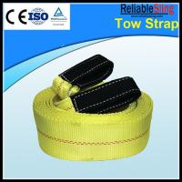 Yellow Nylon Recovery Car Towing Strap CE TUV GS ISO Approved Manufactures