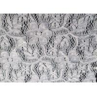 China White Floral Polyester Lace Fabric for Wedding Dress , Lingerie CY-CT0001 on sale