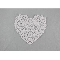 Guipure French Venice Lace Collar Cotton Lace Heart Applique For Wedding Dresses Manufactures