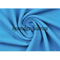 150D/40D Solid Blue Nylon and Spandex Fabric 87% Supplex 13% Spandex Manufactures