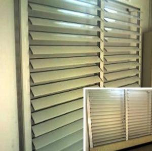 Blind / Shutter Industrial Aluminum Profile , Louver / Jalousie Extrusion Profiles Manufactures