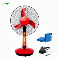 China 16 Inch Solar Battery Charger Table Desk Fan Dc 12v on sale