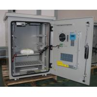 Single Wall Heat Insulated 15U Pole Mount Cabinet / Thermostatic Outdoor Box With Peltier Cooler Manufactures