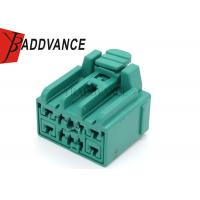 Green 10 Pin Female Connector / Sealed Automotive Electrical Wire Connectors