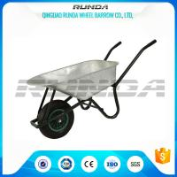 5CBF Heavy Duty Wheelbarrow Galvanized Durable Metal Tray Load Capacity 150kg Manufactures