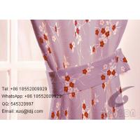 Quality Professional Curtain Heat Transfer Fabric Colorful Roses Design for sale