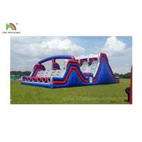 4 Lane Inflatable Sports Games / Military Boot Camp Obstacle Course Manufactures