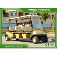 Golden 48V 3.7KW 6 Seater Electric Golf Carts , Trojan Battery Buggy Car Golf Manufactures