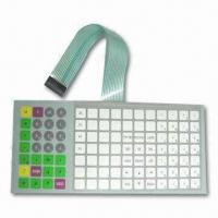 Electronic Scales Membrane Keypad Switch/Keyboard with 25 to 100mA Contact Current Manufactures