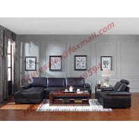 Italy Leather Sofa with L-Shape in Wooden Sofa Set Manufactures