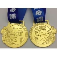 China Die Casting Metal Award Medals Brass Material Type For Bicycle Race Sports on sale