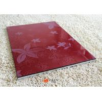White / Red / Black Embossed 3D MDF Board Interior Decorative Wall Panels Manufactures